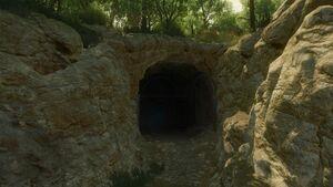 Tw3 bw cave where lebioda stayed.jpg