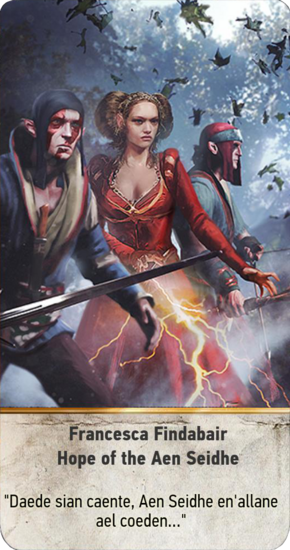 Tw3 gwent card face Francesca Findabair Hope of the Aen Seidhe.png