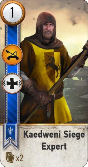 Tw3 gwent card face Kaedweni Siege Expert 1.png