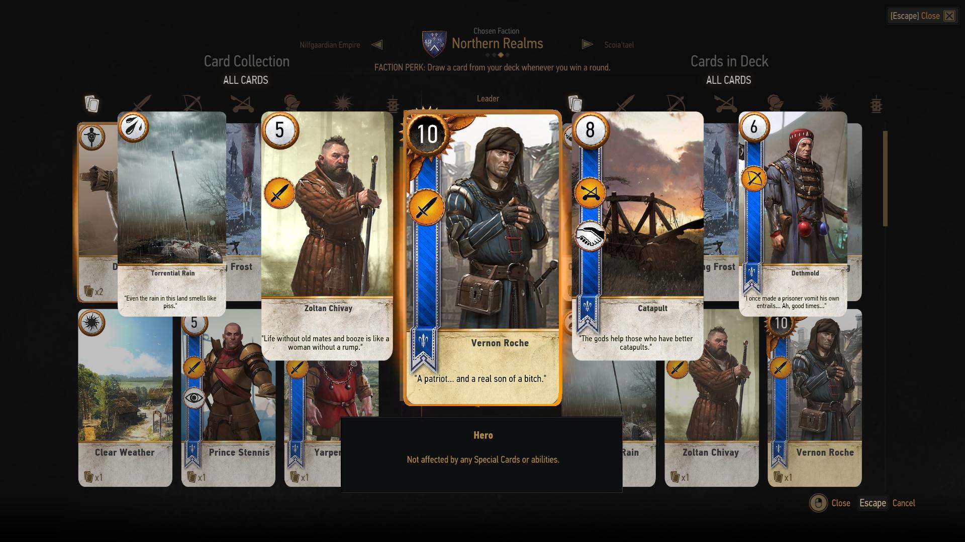 gwent giocatori di velen  witcher wiki ufficiale