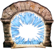 Teleport gate active