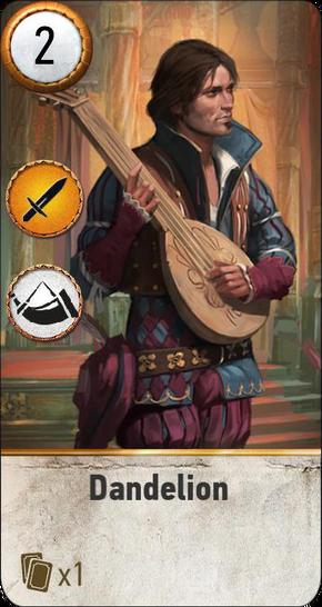 Tw3 gwent card face Dandelion.png