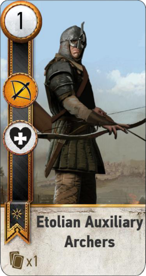 Tw3 gwent card face Etolian Auxiliary Archers 1.png