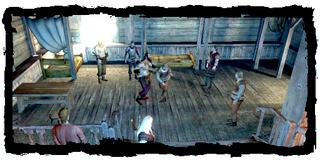 fistfighting at the inn