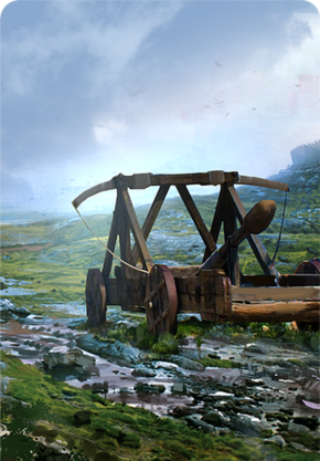 Tw3 cardart northernrealms catapult.png