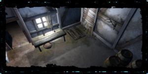 Interior, showing trap door