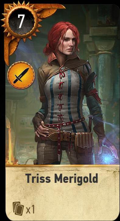 triss merigold carta da gwent  witcher wiki ufficiale