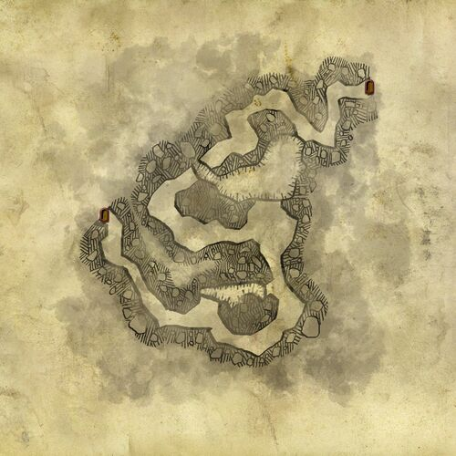 Map of the cave outside Loc Muinne