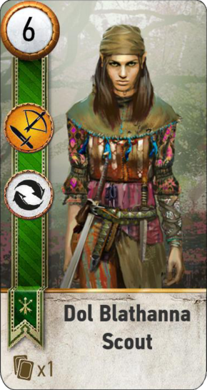 Tw3 gwent card face Dol Blathanna Scout 3.png