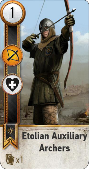 Tw3 gwent card face Etolian Auxiliary Archers 2.png
