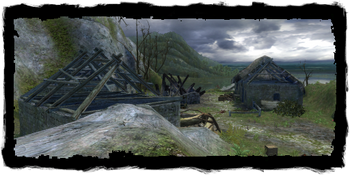 the ruined village