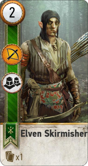 Tw3 gwent card face Elven Skirmisher 1.png