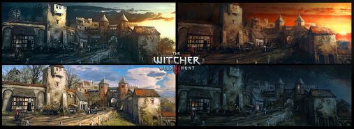Tw3 Blood and Wine Mood Board concept art