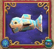 Pesce esca ghiacciato