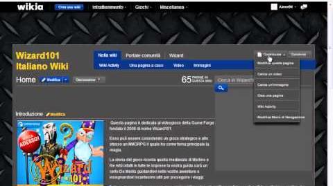 Creare pagine per la wiki di wizard101 italiano