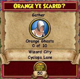 Orange Ye Scared