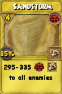 Sandstorm Treasure Card