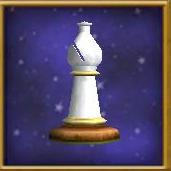 White Bishop Chesspiece
