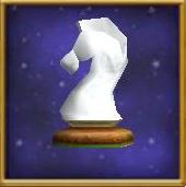 White Knight Chesspiece