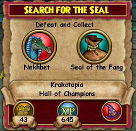 Search for the Seal
