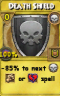 Death Shield Treasure Card