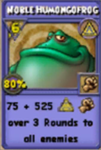Noble Humongofrog Item Card