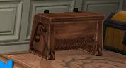 Carved Wooden Trunk