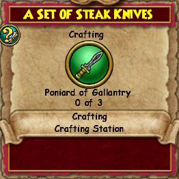 A Set of Steak Knives