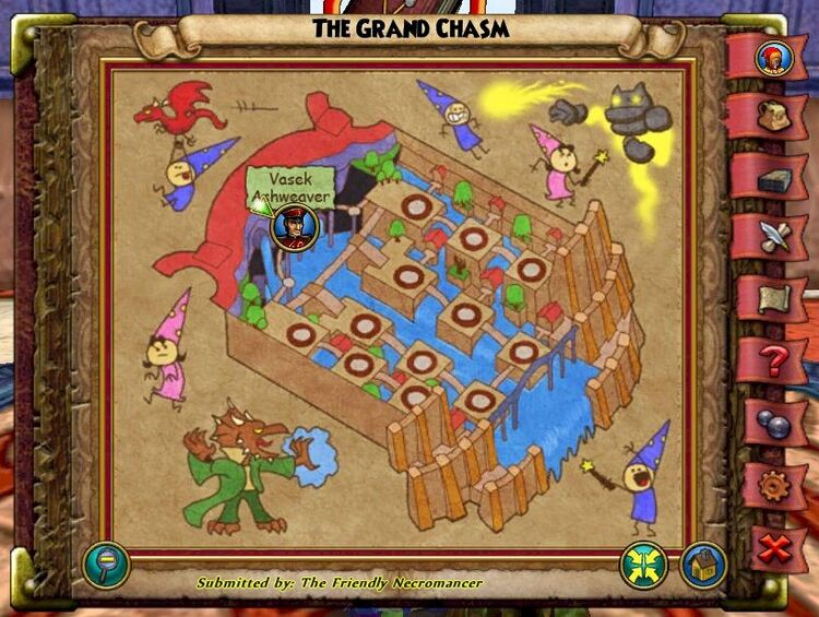 The Grand Chasm Past Map