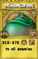 Humongofrog Treasure Card