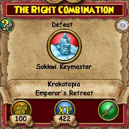 The Right Combination (Krokotopia)