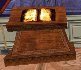 Lectern with Singed Book