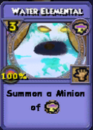 Water Elemental Item Card