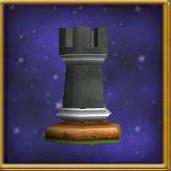 Black Rook Chesspiece