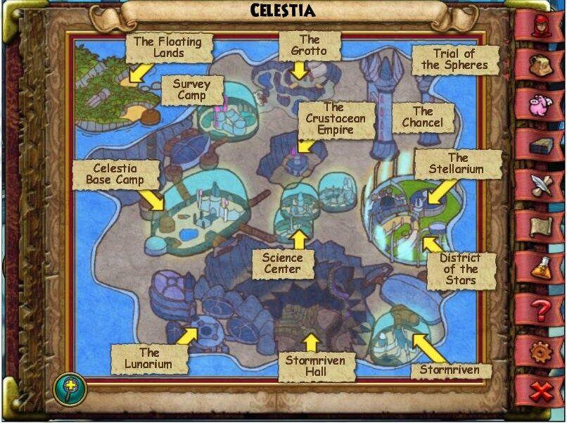 Map of Celestia