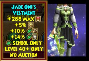 Jade Oni's Vestment