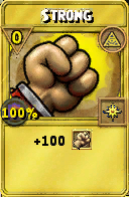 Strong Treasure Card