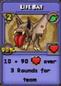 Life Bat Item Card