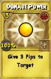 Donate Power Treasure Card