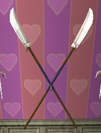 Crossed Naginata Spears