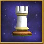 White Rook Chesspiece
