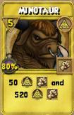Minotaur Treasure Card