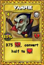 Vampire Treasure Card
