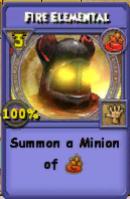 Fire Elemental Item Card