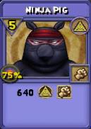 Ninja Pig Item Card