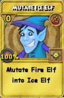 Mutate Ice Elf Treasure Card