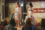 Bibi and alex in the runway Fashion week