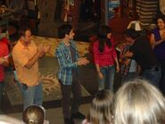Selena, david h., david d. and maria potion conmotion behind the scenes