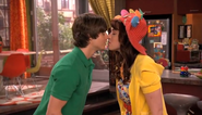Harper and Zeke about to kiss