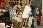 T.J and Alex art teacher
